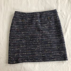 Loft navy boucle skirt with pockets